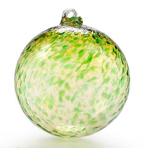 Baptism Ornament Round Glass: Round Glass Ornaments